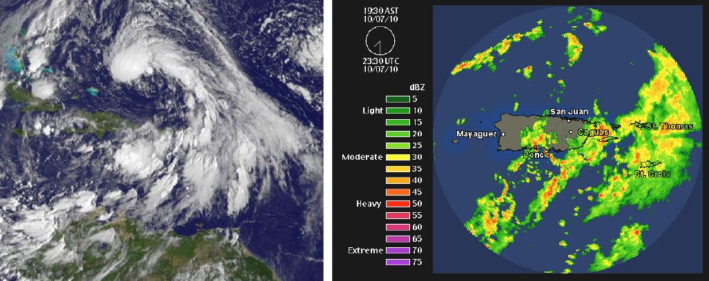 Extensa banda de lluvia cubría a Puerto Rico mientras Otto se desplazaba como un ciclón tropical distante al norte de la isla