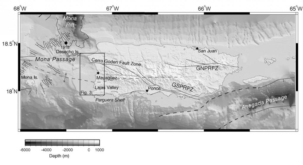 Fallas geológicas superficiales atraviesan Puerto Rico